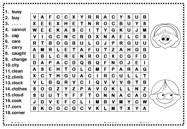 10 Best Images of Second Grade Word Search Worksheets