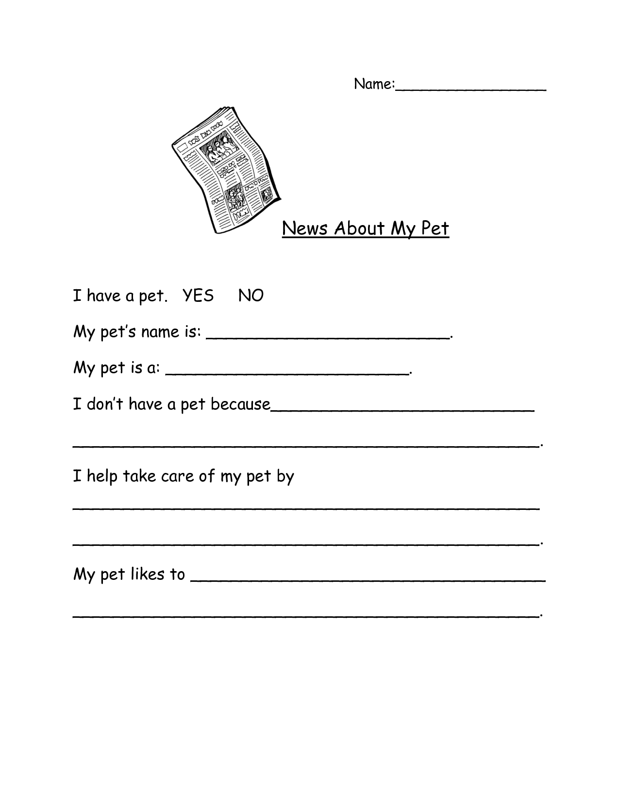 My Teaching Station Worksheet