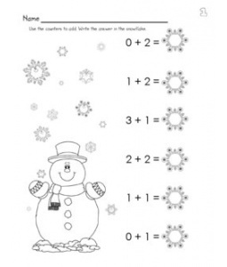 15 Best Images of Winter Subtraction Worksheets For