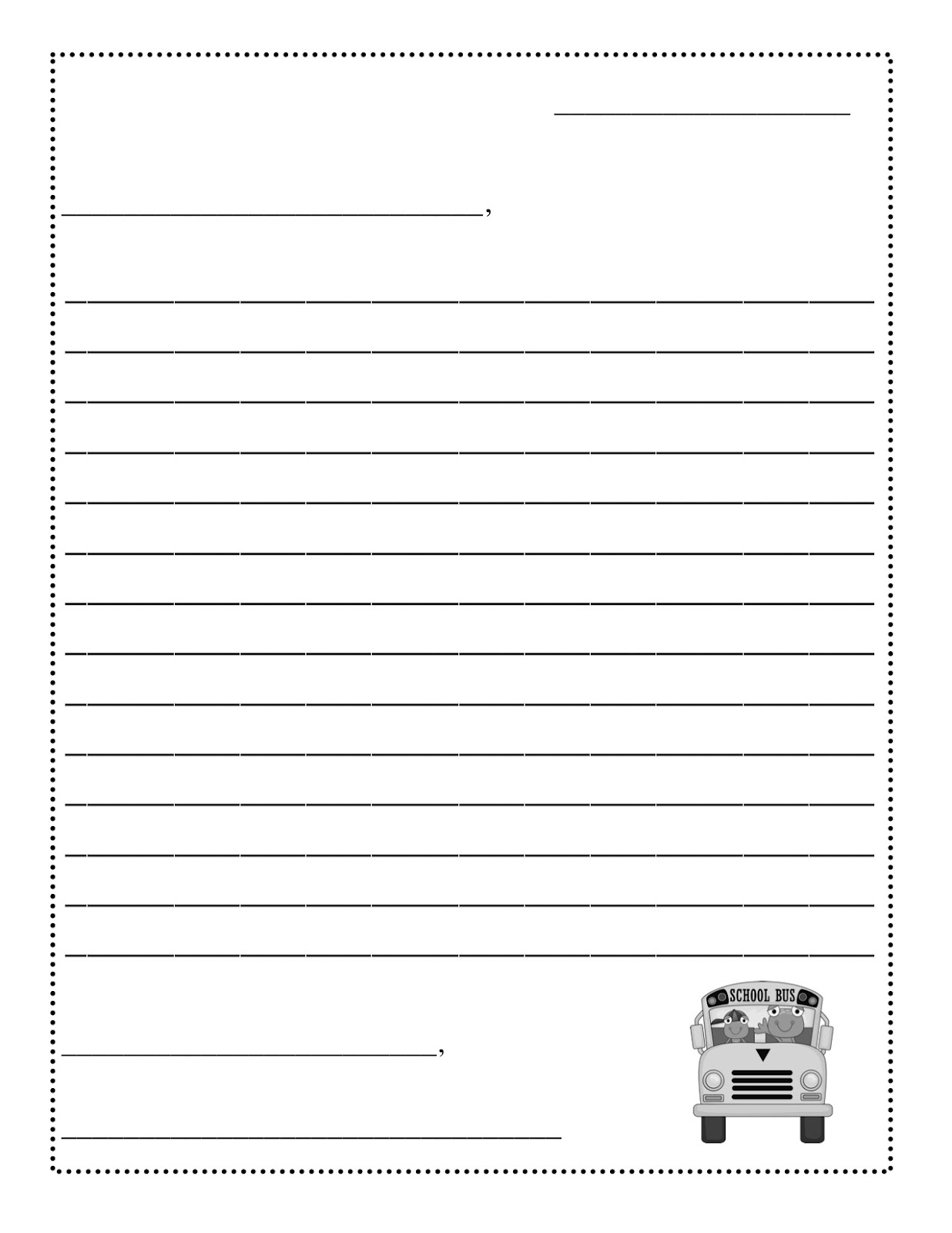 Second Grade Letter Writing Format