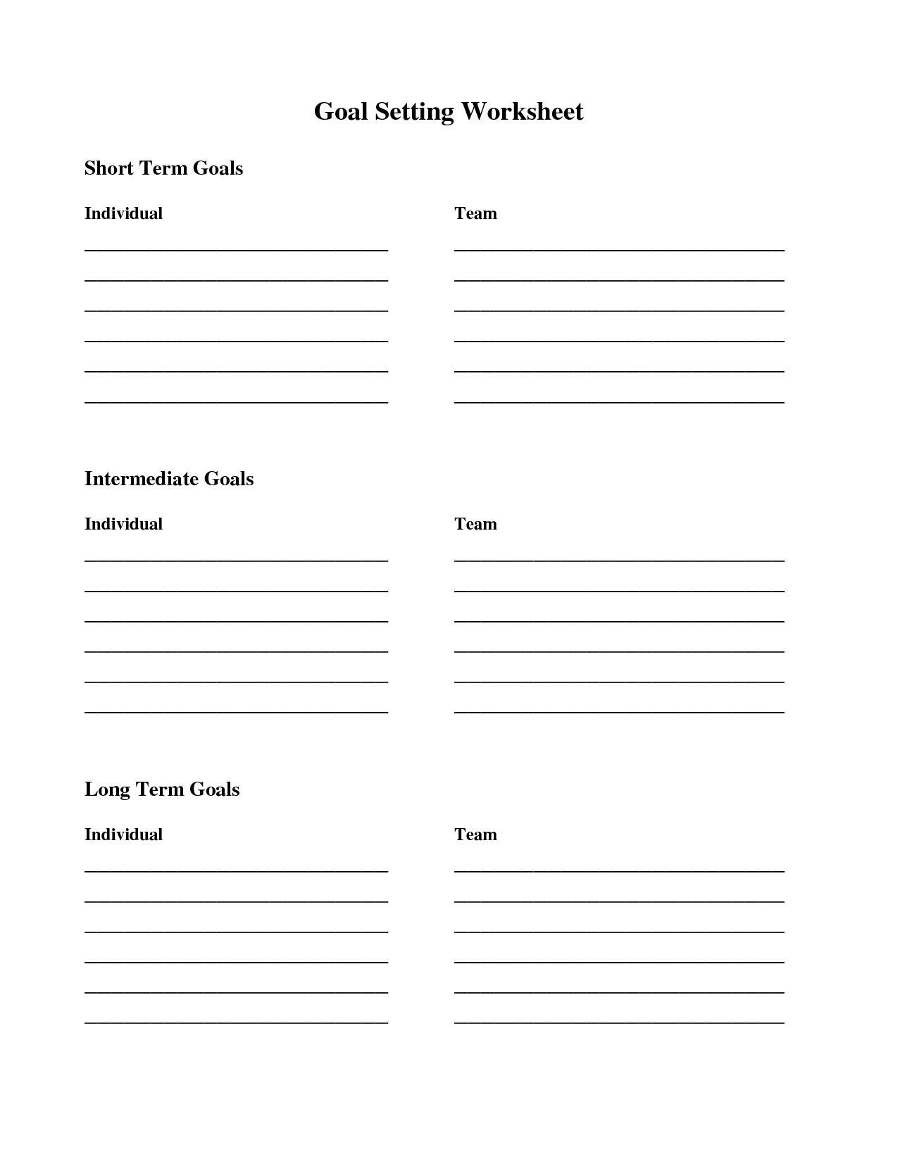 18 Best Images Of Smart Goals Worksheet For Teens