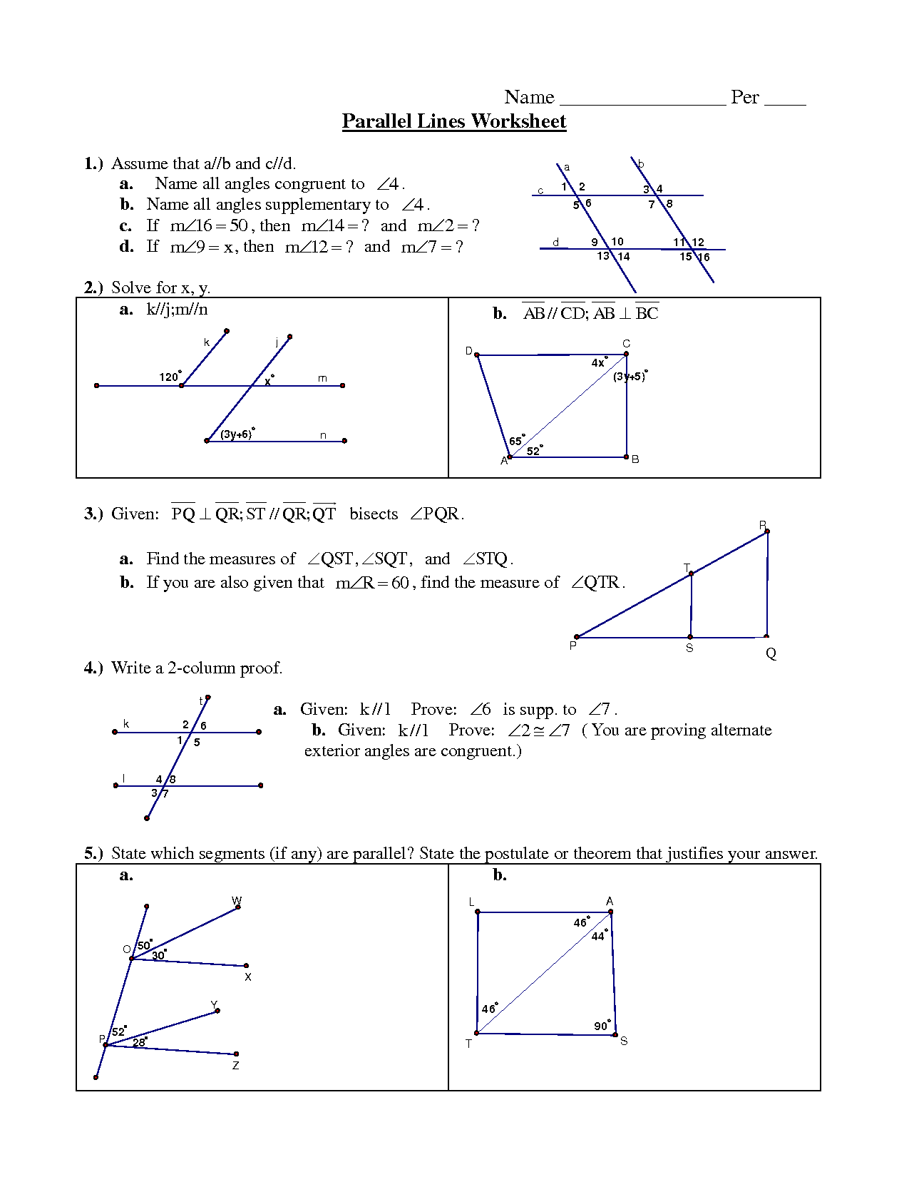12 Best Images Of Shape Perpendicular Lines Worksheet