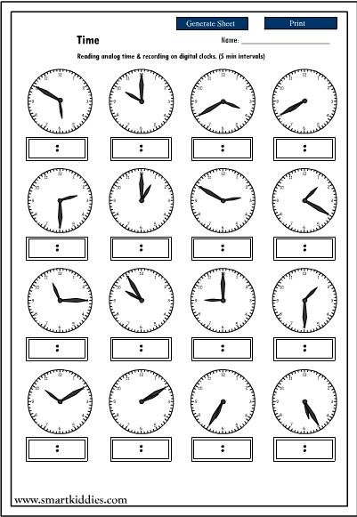 15 Best Images of Telling Time Worksheet Printable