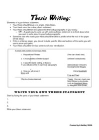13 Best Images of Thesis Statement Worksheet Middle School ...