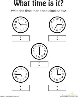 17 Best Images of Telling Time Worksheets Grade 3