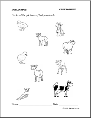 15 Best Images of Baby Animals And Their Parents Worksheet