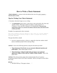 16 Best Images of Thesis Statement Worksheet - Thesis ...