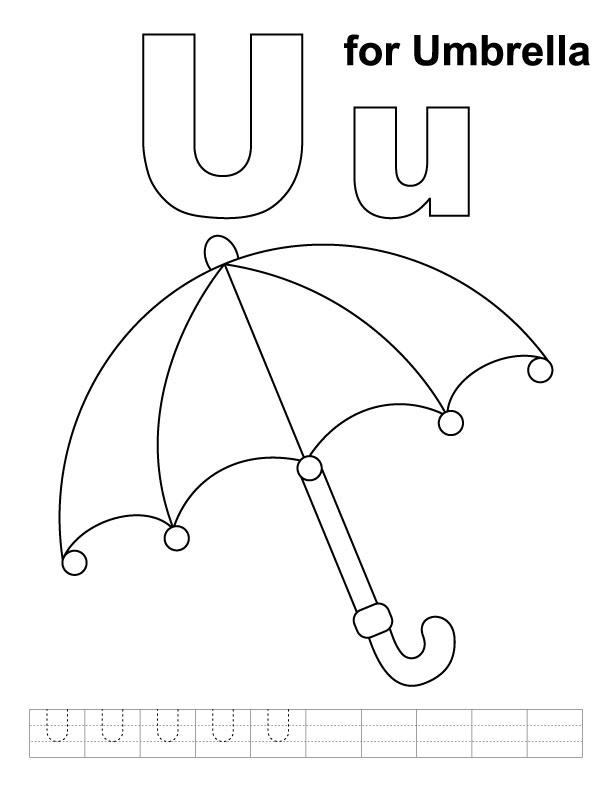 14 Best Images of Umbrella Worksheets For Kindergarten