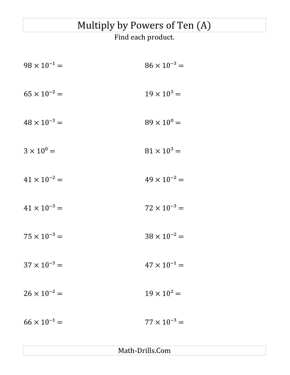 19 Best Images Of Easy Multiplying Monomials Worksheet