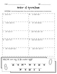 16 Best Images of Order Of Operations And Exponents ...
