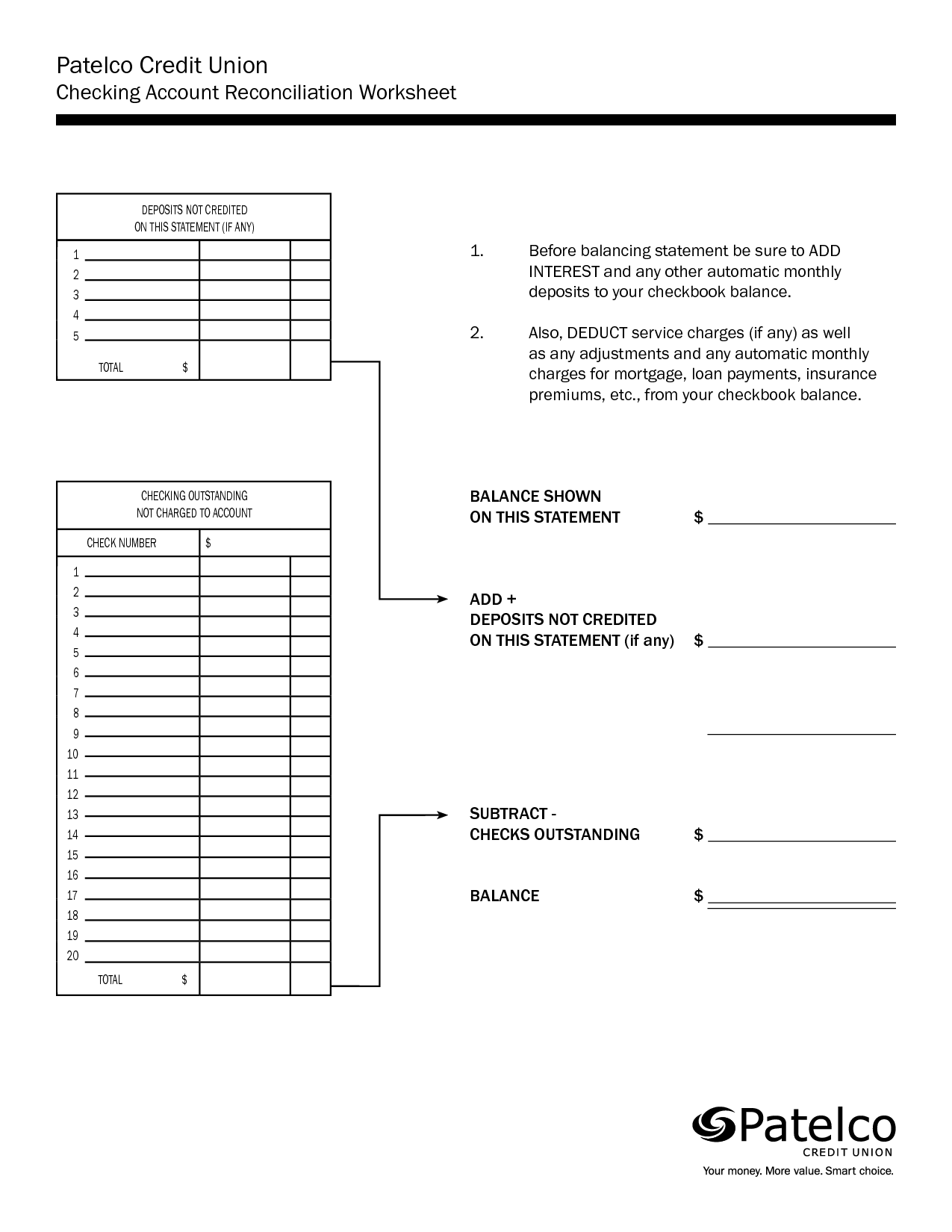 14 Best Images Of Checking Account Balance Worksheet