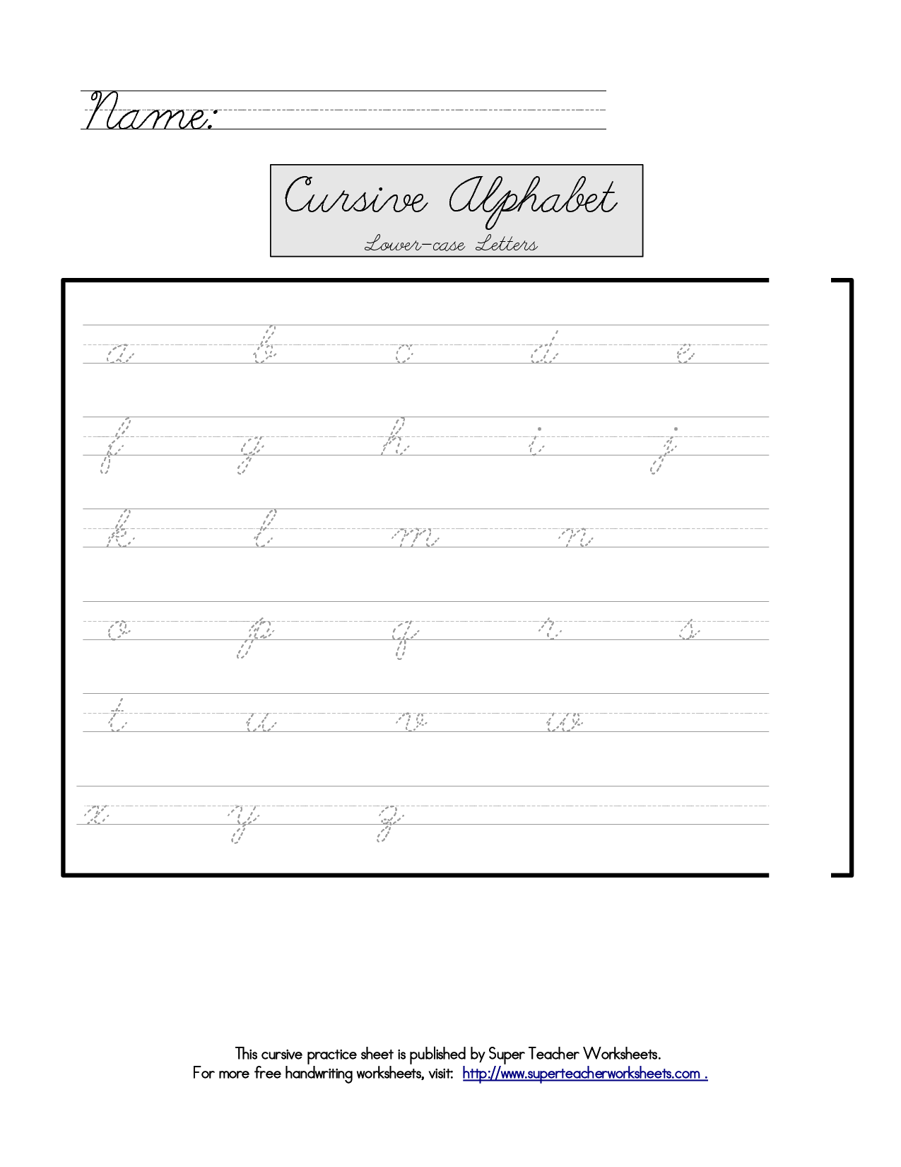 8 Best Images Of Worksheets Trace The Cursive N