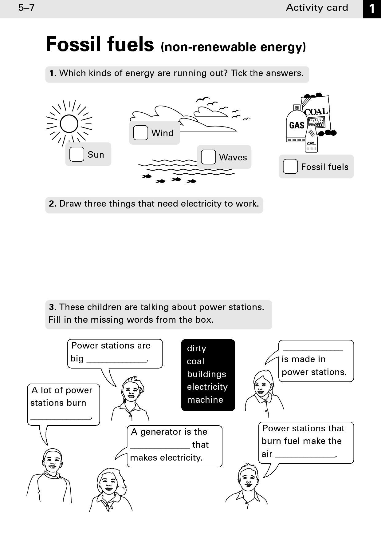 Energy Worksheet Category Page 5