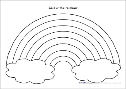 rainbow coloring page with words 12 best images of rainbow