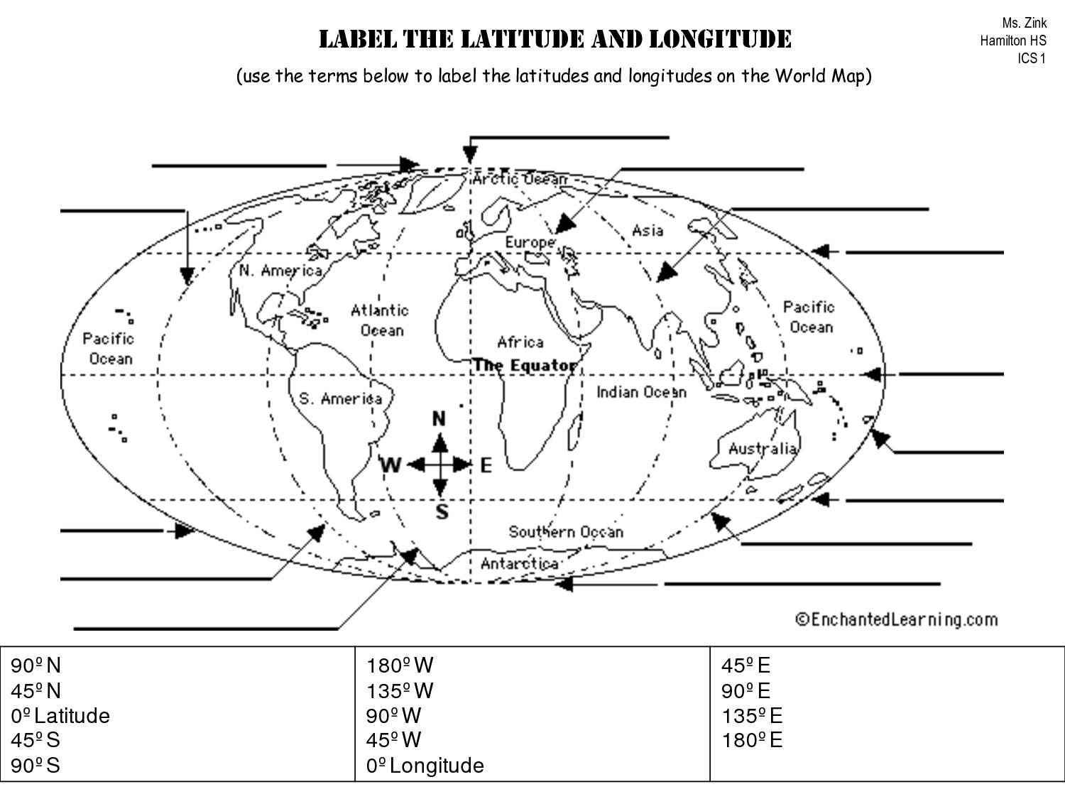 Fill In The Continents Worksheet