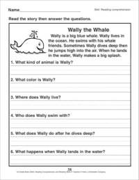 17 Best Images of 1st Grade Reading Comprehension ...