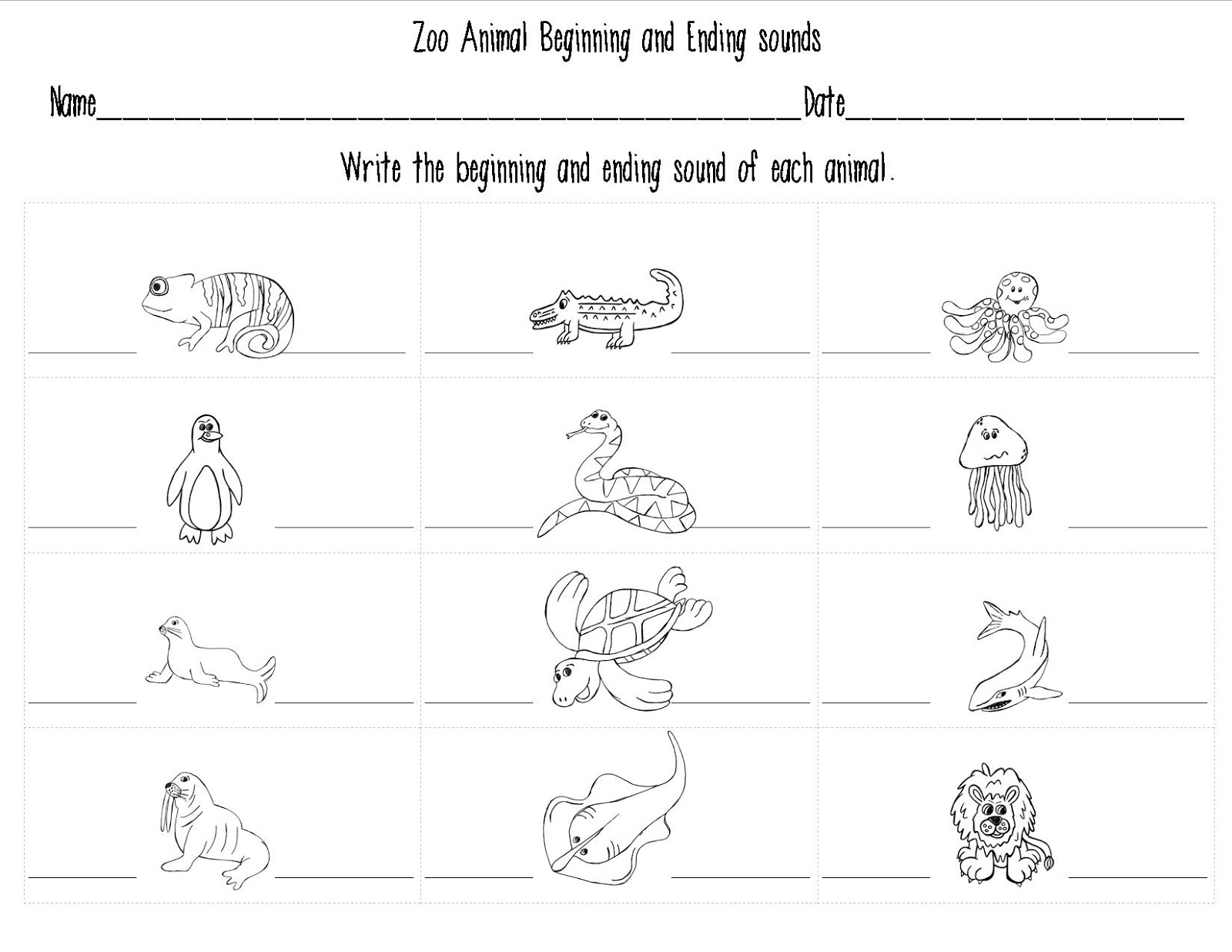 Printable Animal Worksheet For Kindergarten