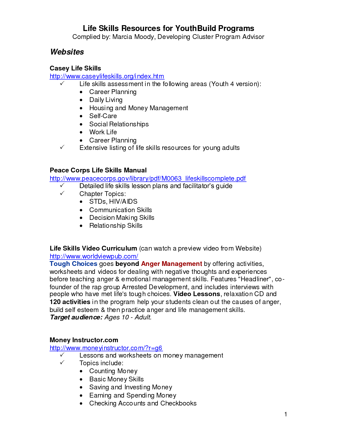 Worksheets On Money Management Skills