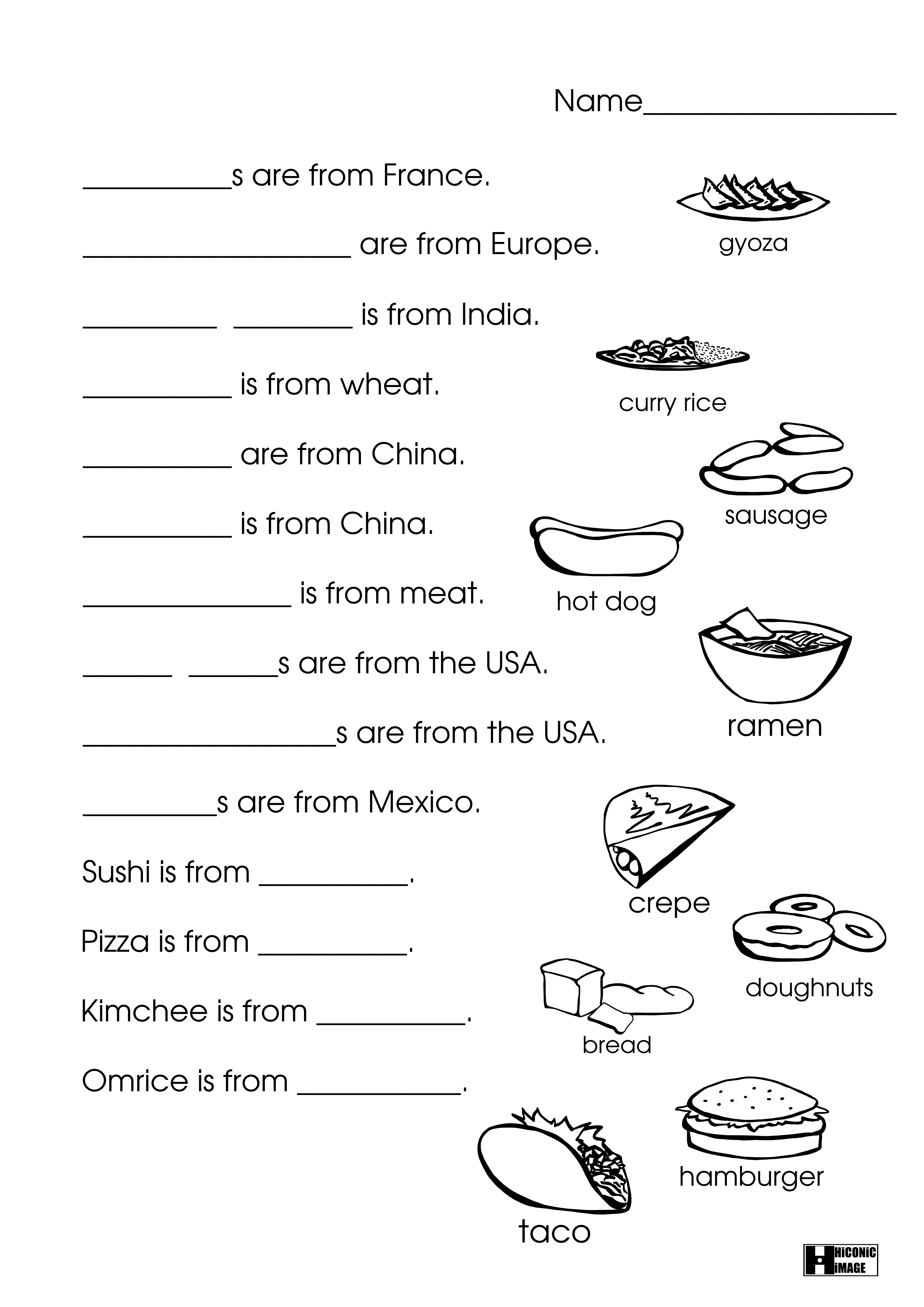 Fun Japanese Worksheet