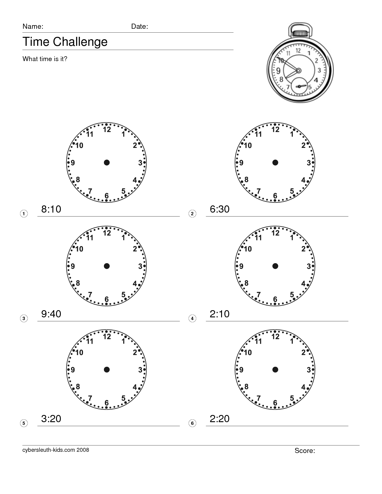 14 Best Images Of Printable Math Worksheets Time