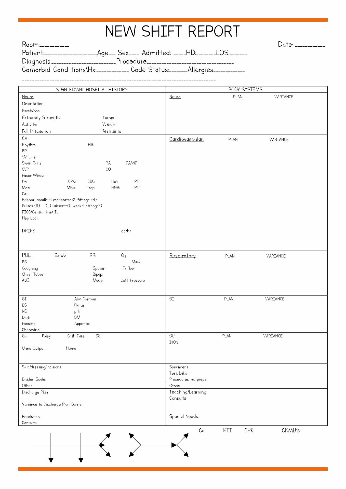 Nursing Diagnosis Worksheet Template