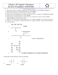 12 Best Images of Organic Molecules Worksheet Review ...