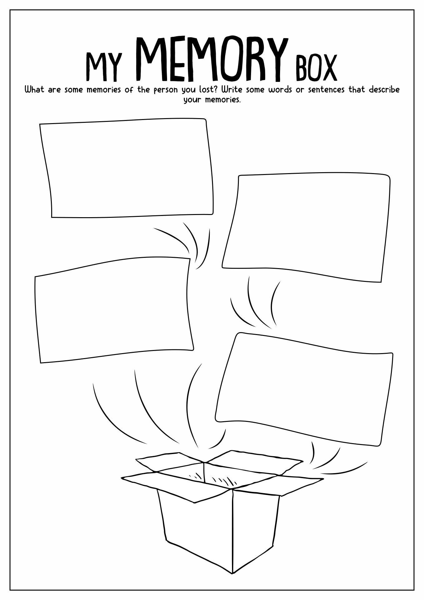 image regarding Printable Grief Workbook called √ Grief Worksheets