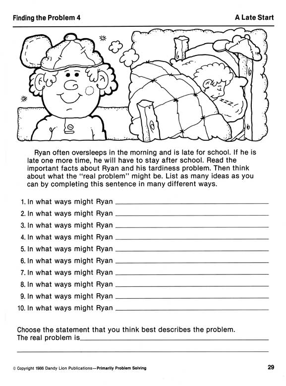 Problem Solving Worksheets Mental Health