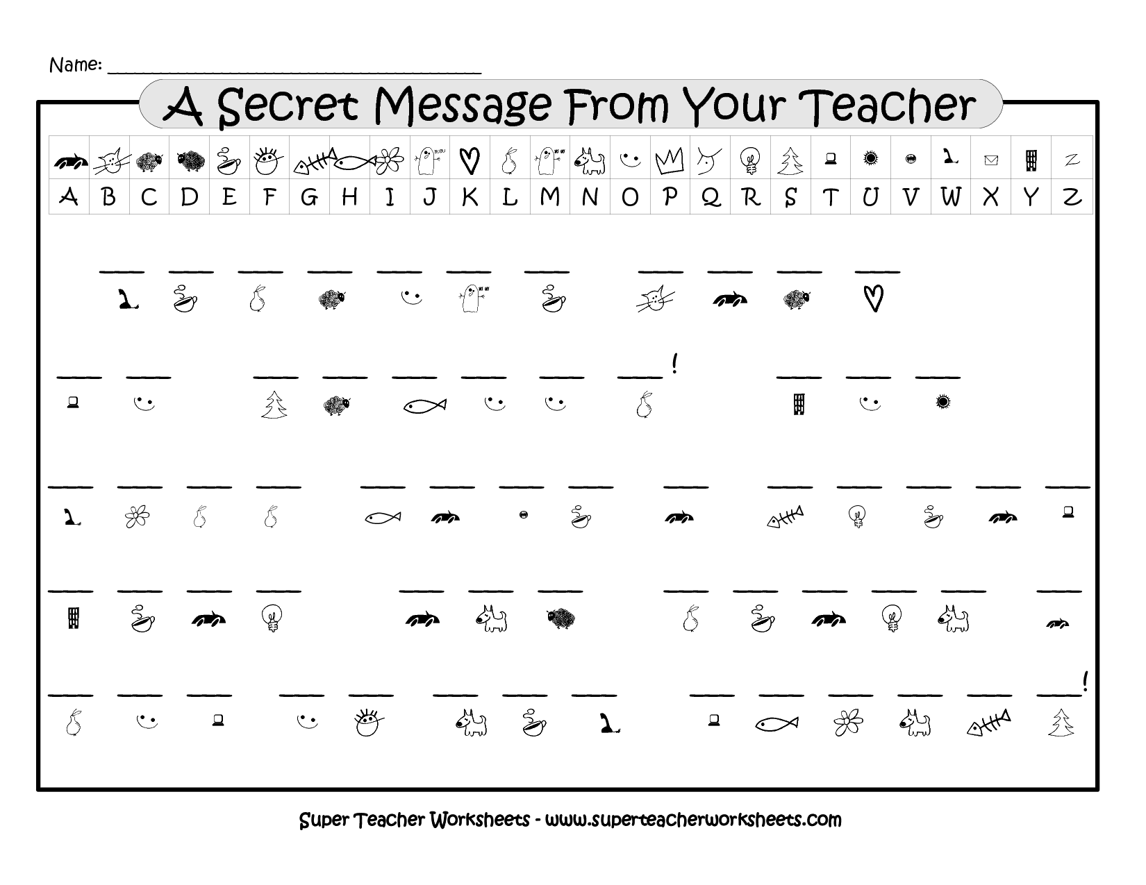12 Best Images Of Crack The Code Worksheets