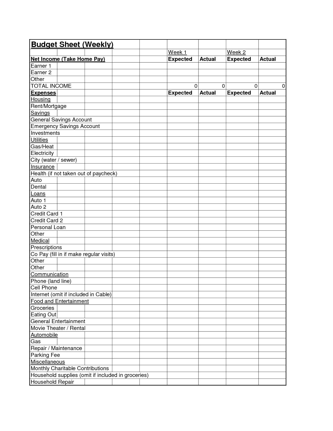 18 Best Images Of Personal Financial Worksheet Excel