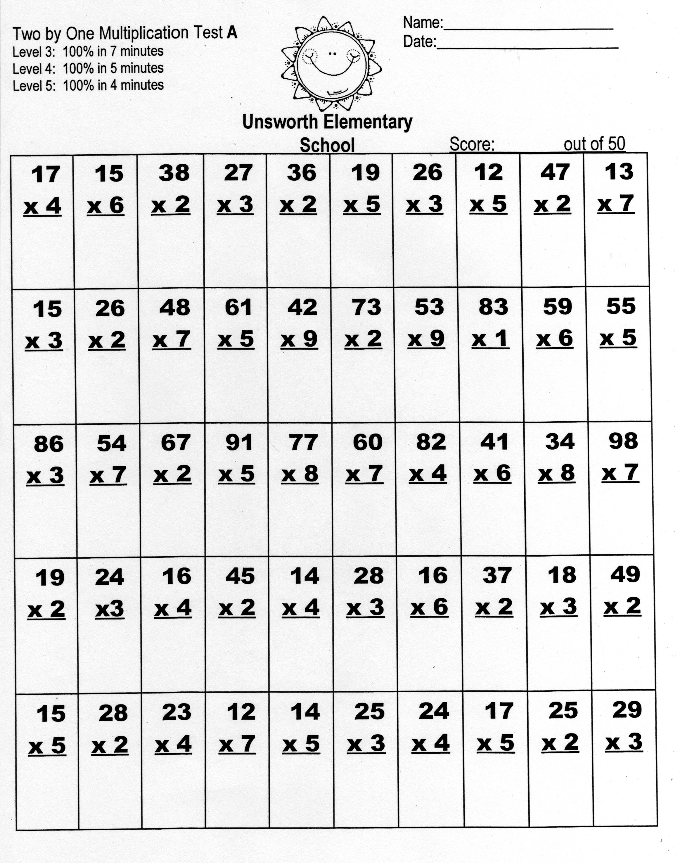 15 Best Images Of Minute Math Worksheets 1st Grade