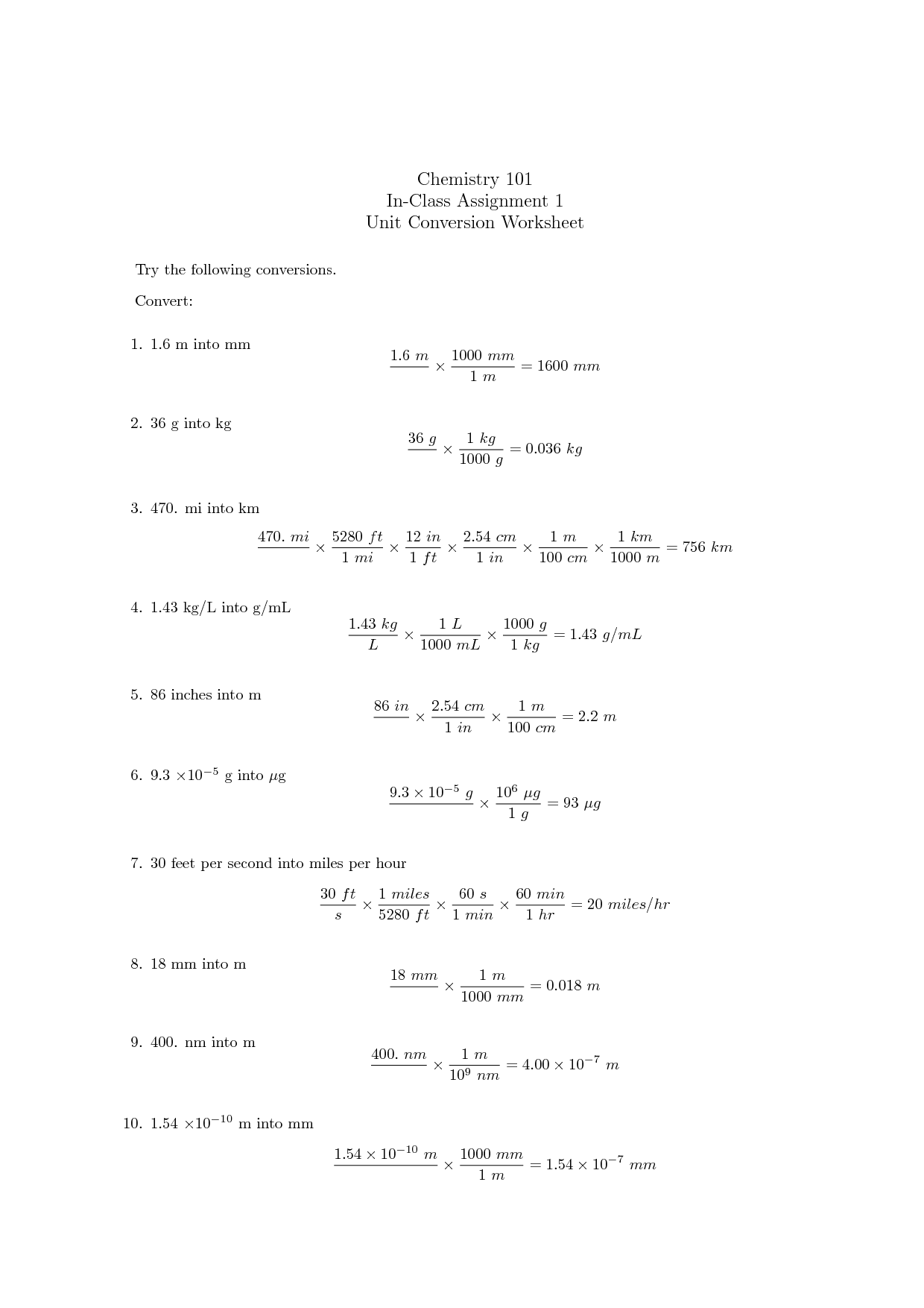 12 Best Images Of Physics Unit 1 Worksheet 2