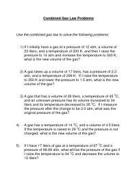14 Best Images of Gas Law Problems Worksheet With Answers ...