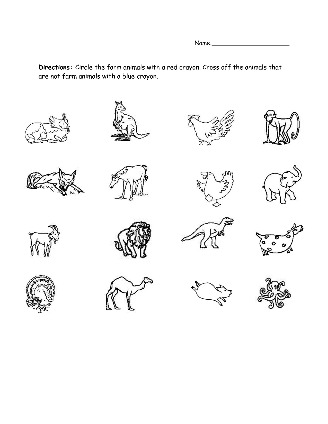 Animal Habitat Worksheet Preschool