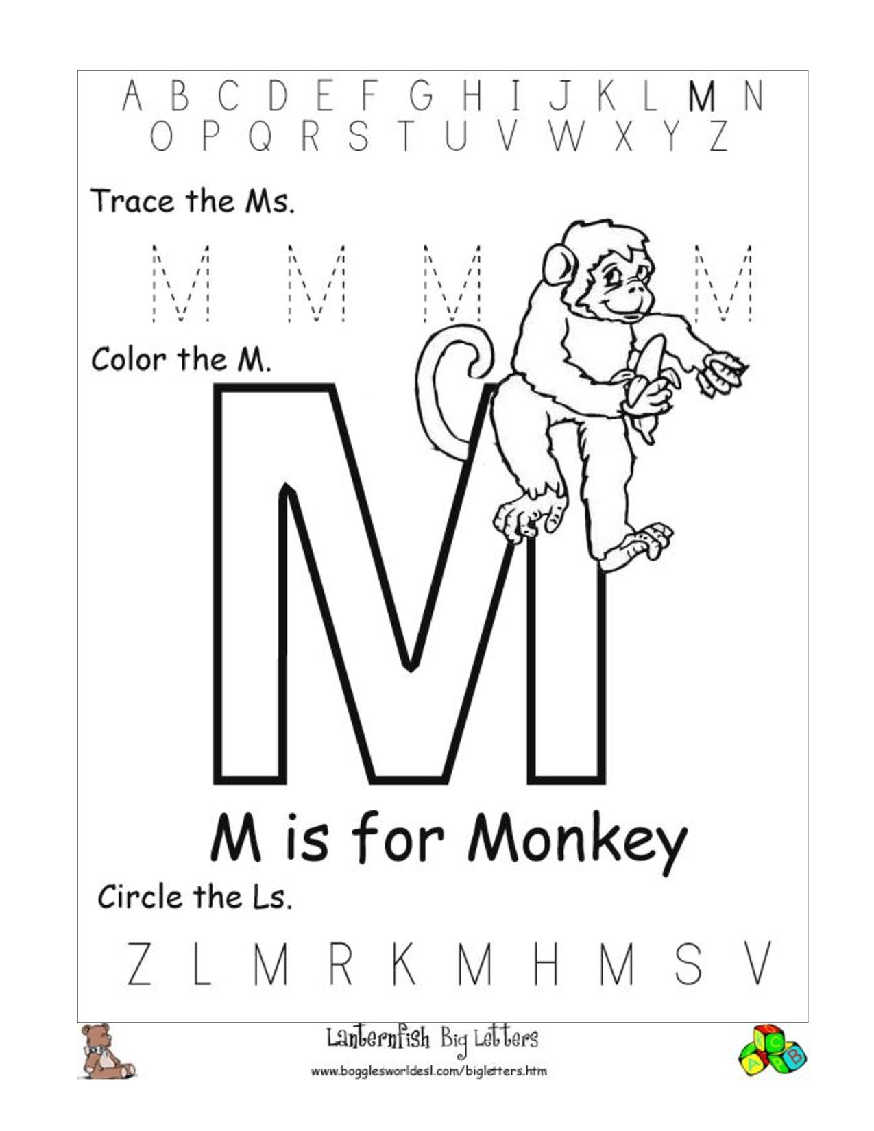 12 Best Images Of Letter M Worksheets