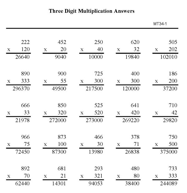 13 Best Images of Multiplication Practice Worksheets