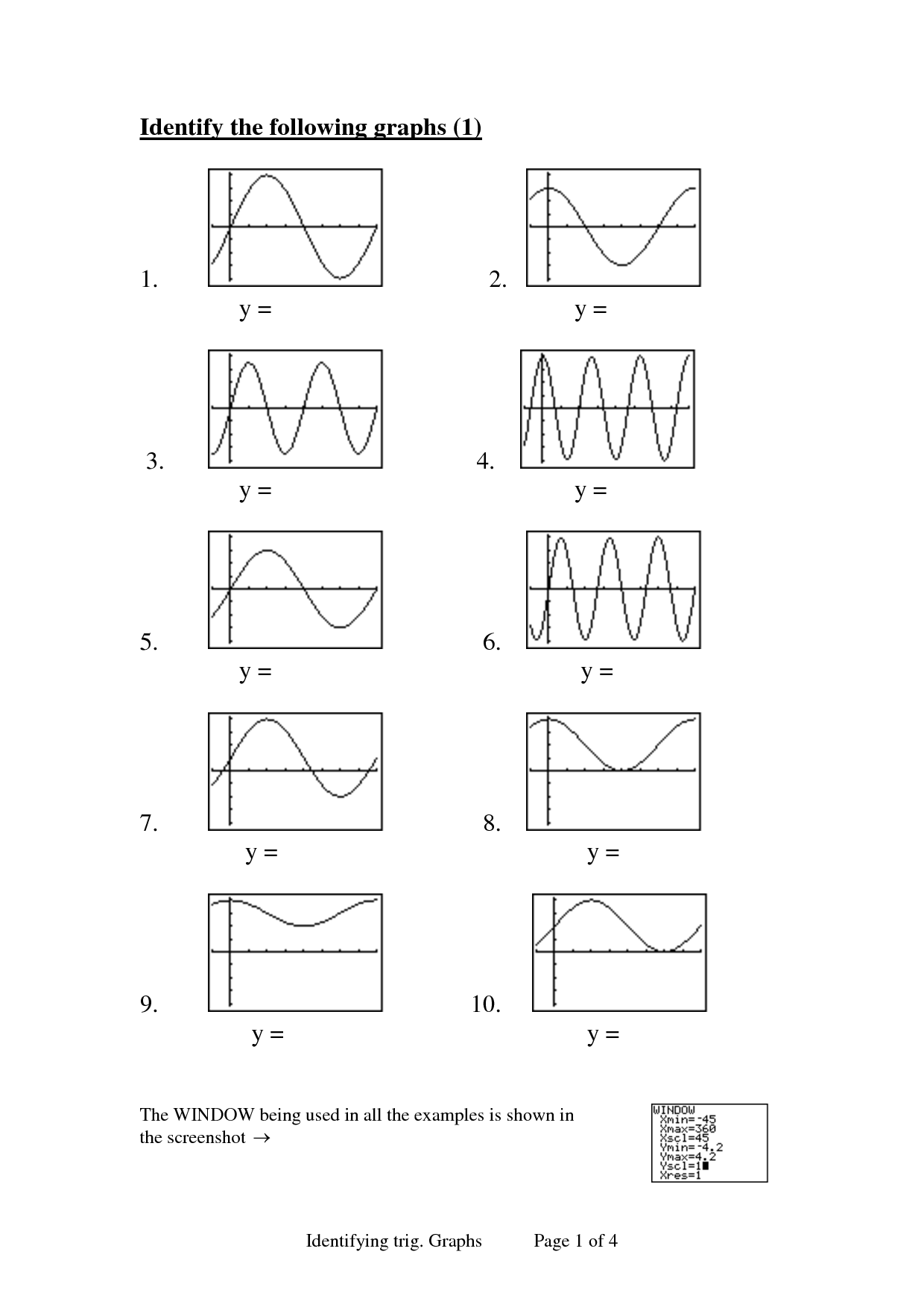 7 Best Images Of Inverse Trigonometry Functions Worksheets