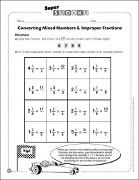 Changing Mixed Numbers To Improper Fraction Worksheets ...