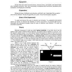 Light Ray Diagram Worksheets Subwoofer Wire 11 Best Images Of Refraction And Lenses Worksheet