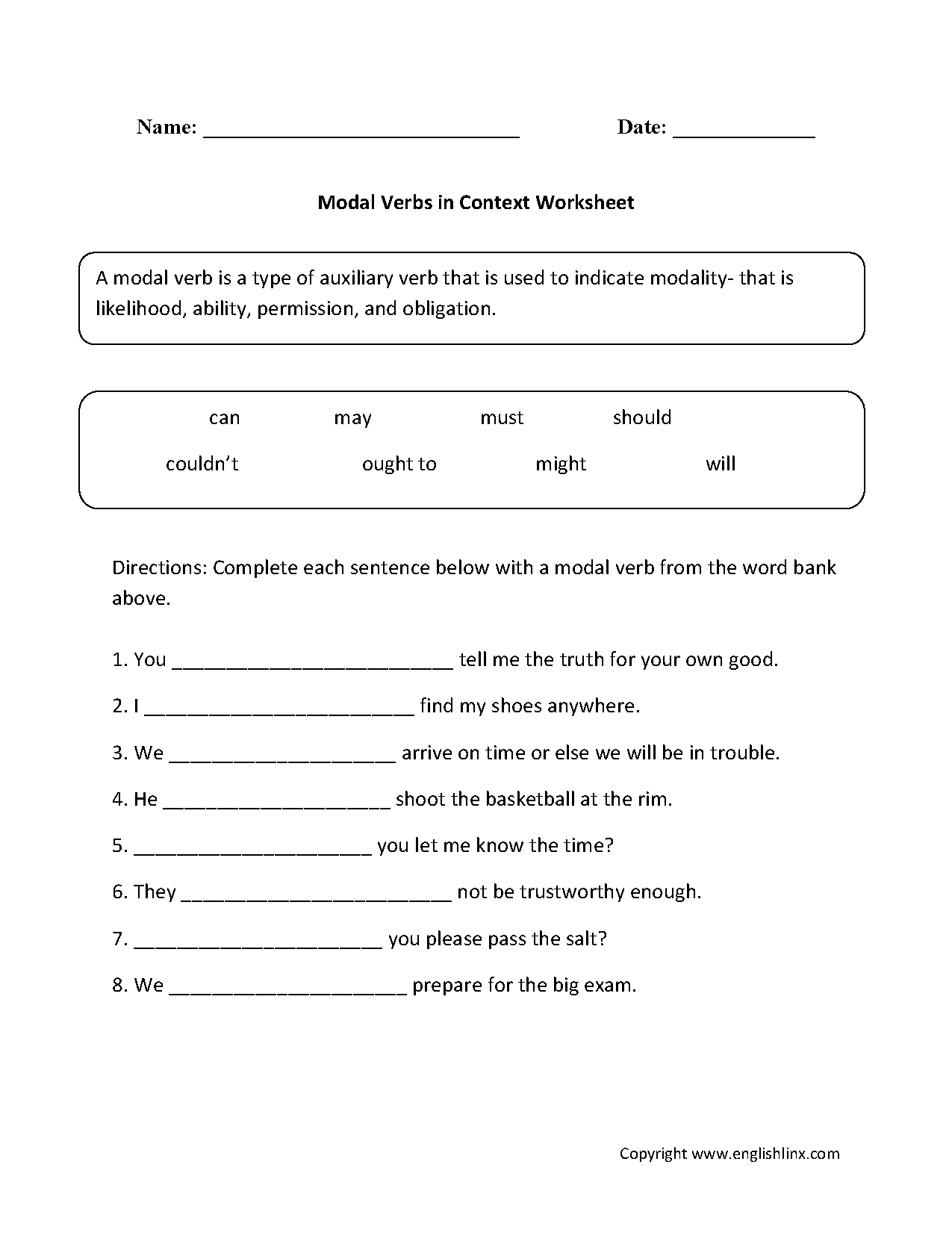 Verb Worksheet For Class 4