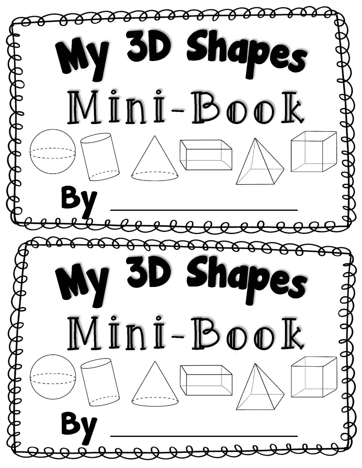 14 Best Images Of 3d Worksheets For Kindergarten