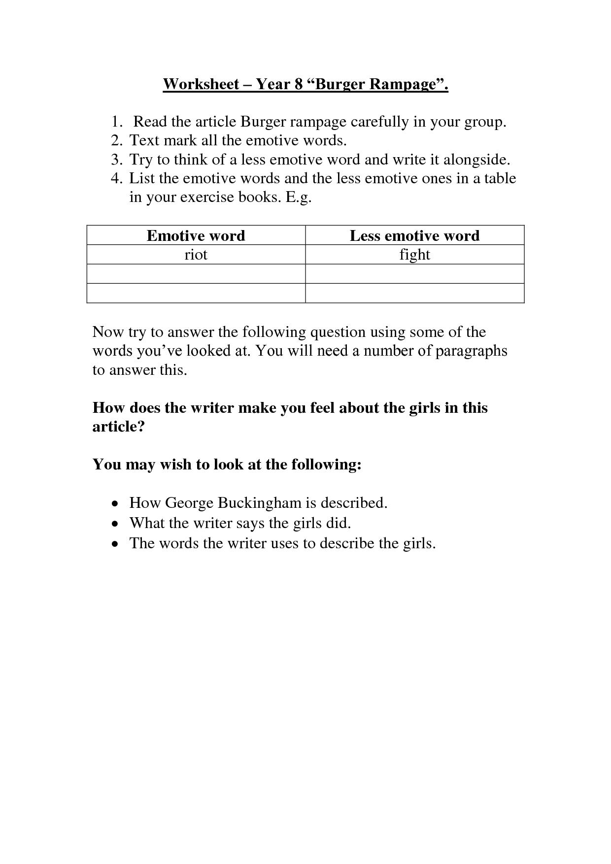 10 Best Images Of Question Mark Worksheet