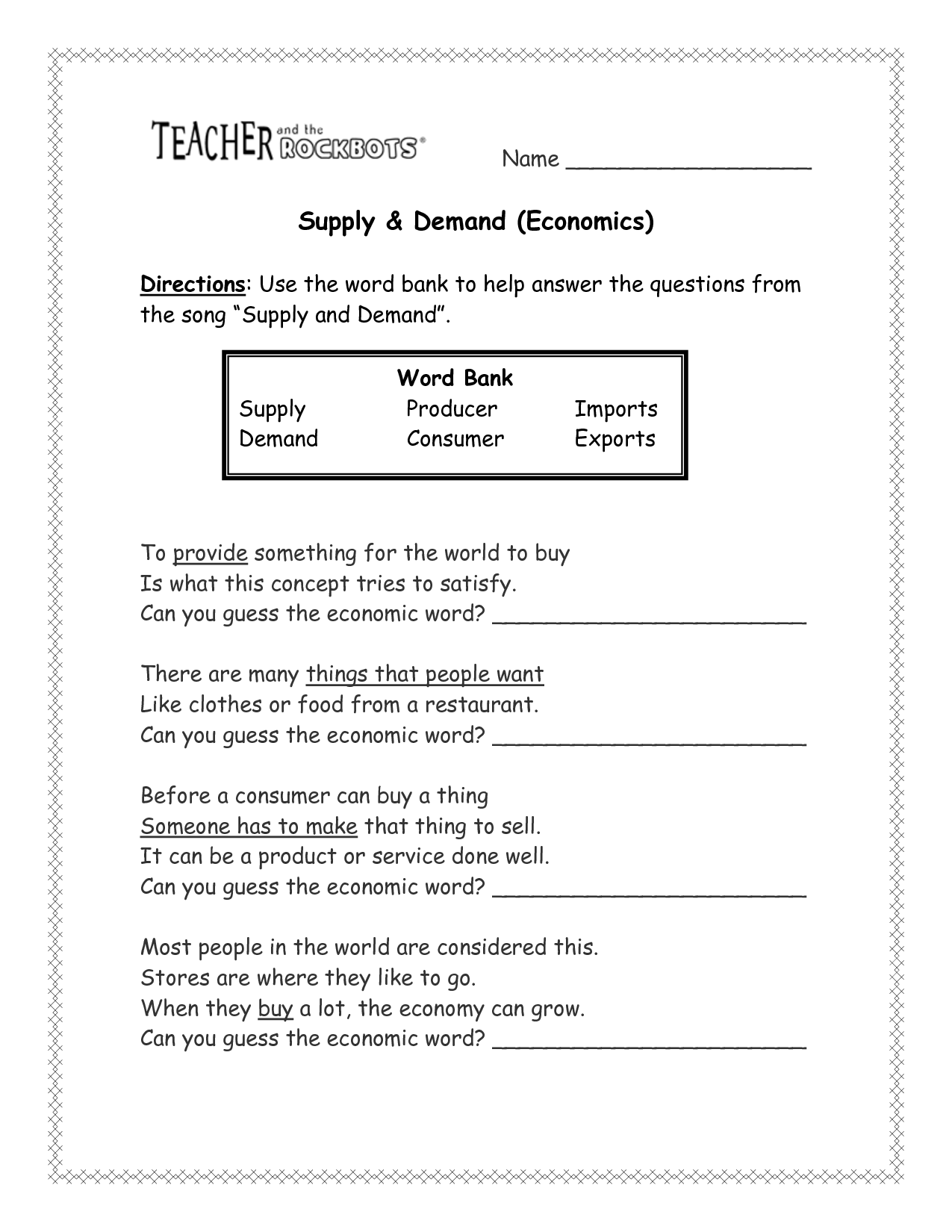 27 Econ Supply Curve Worksheet