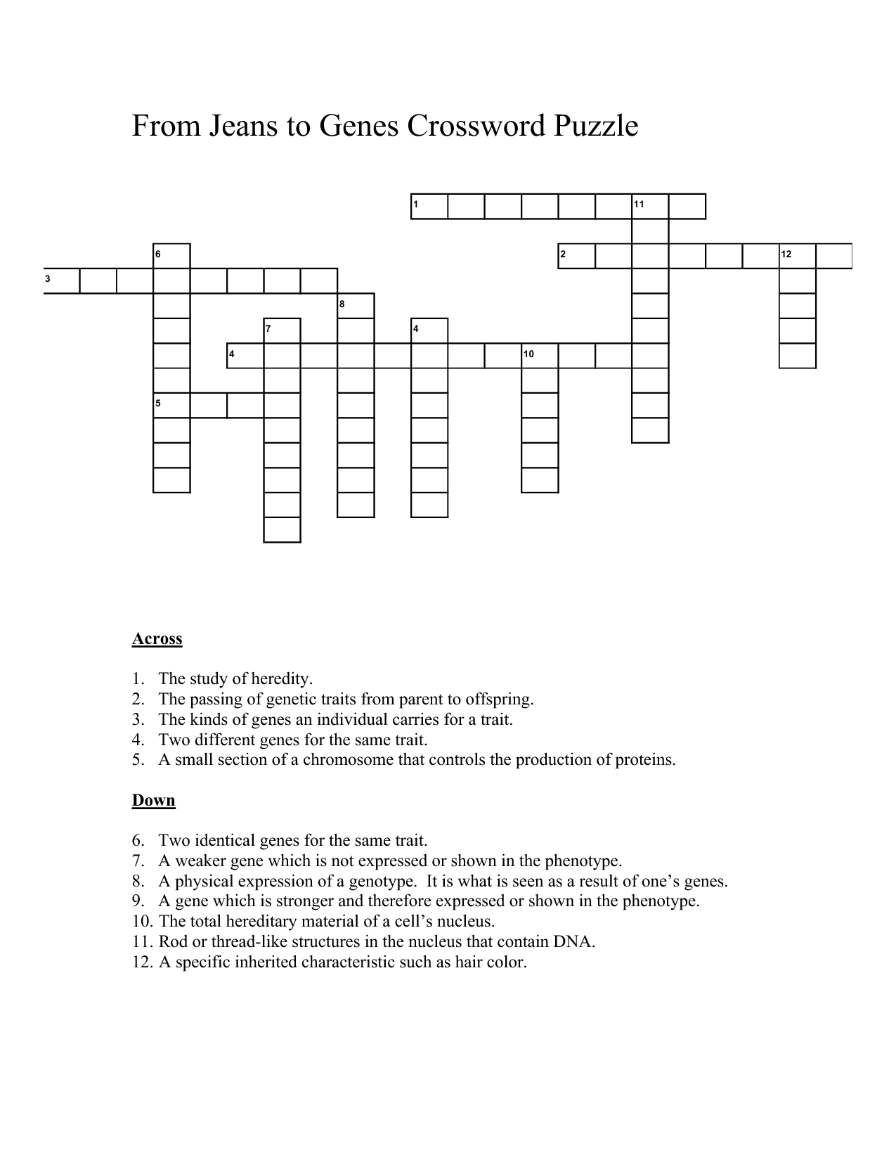17 Best Images Of Dna Vocabulary Worksheet
