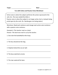 14 Best Images of Passive Voice Worksheets.pdf - Active ...