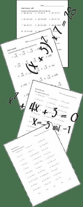 19 Best Images of Factoring Worksheets Kuta Software