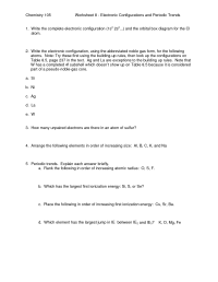 20 Best Images of Periodic Trends Worksheet Answers Key ...
