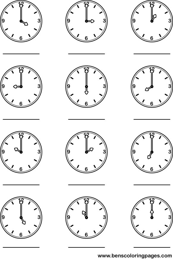 18 Best Images of Learning To Tell Time Worksheets