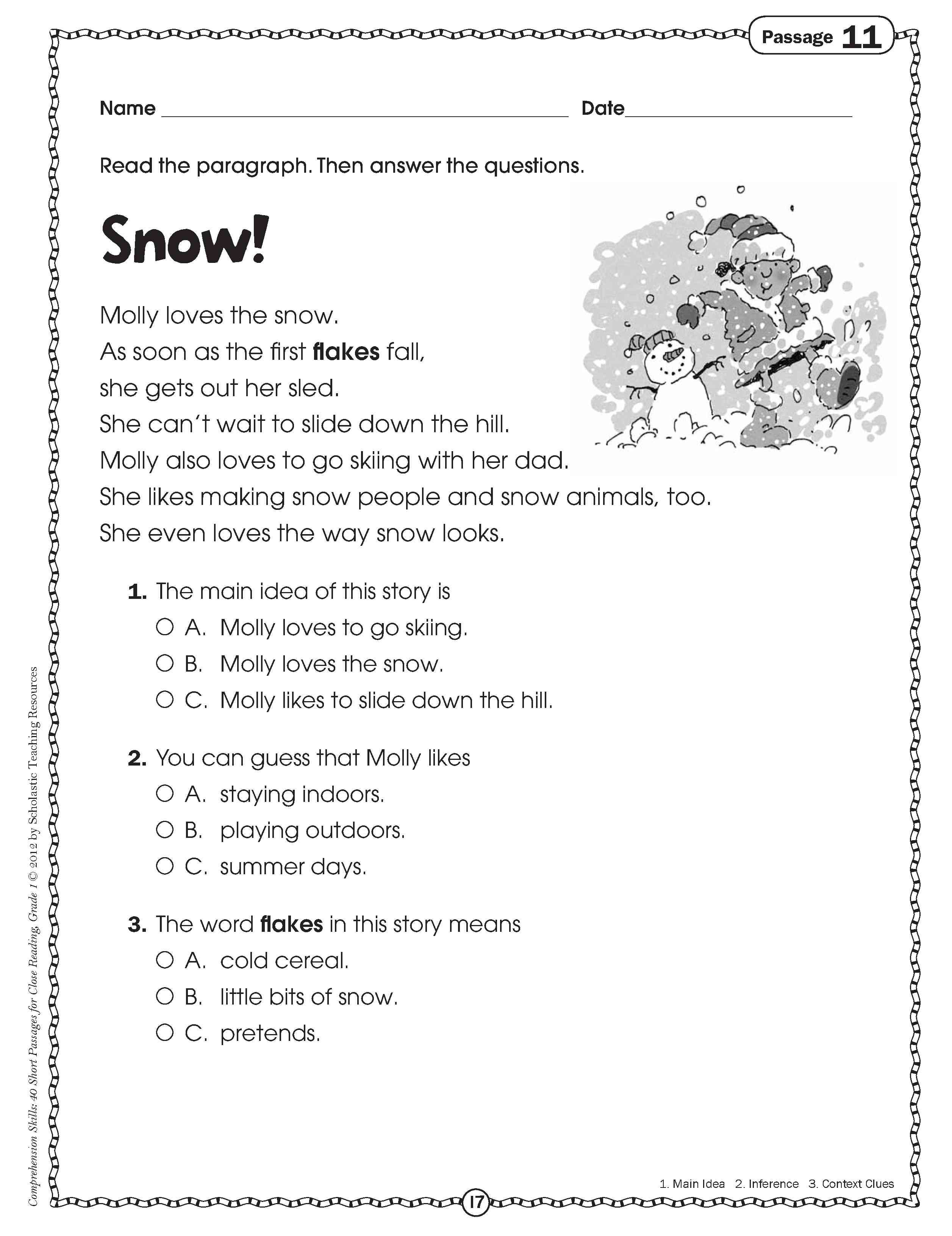 Math Grade 4 Comprehension Worksheet