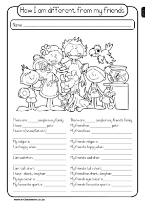 14 Best Images Of Worksheets My Friends All About My